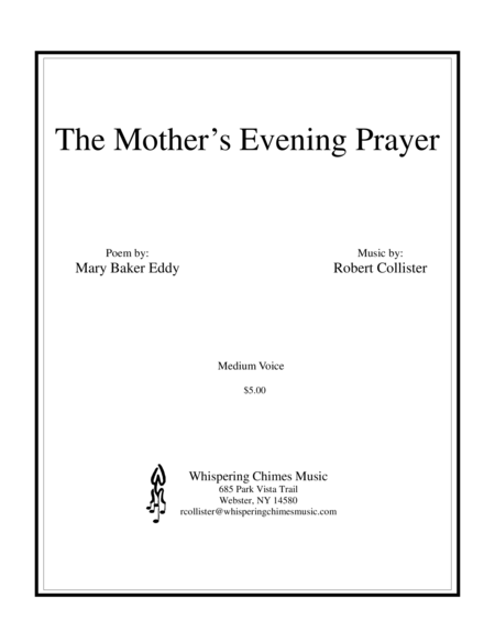 The Mother's Evening Prayer medium voice
