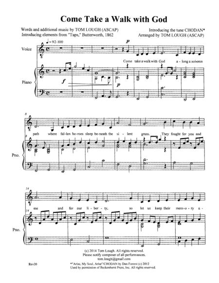 Come Take a Walk with God -- piano