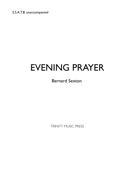 Evening Prayer (Let My Prayer Come Up)