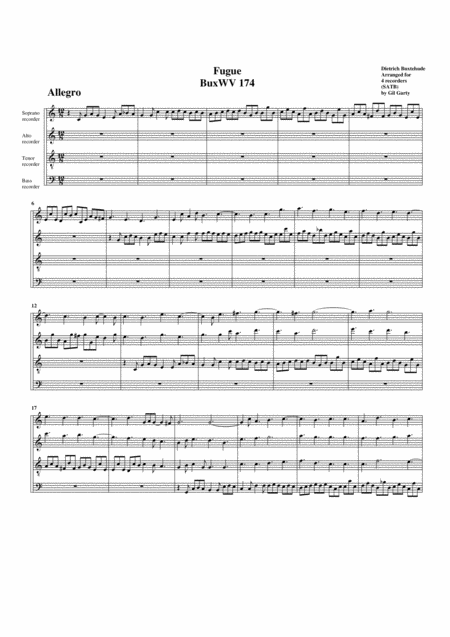 Fugue BuxWV 174, C major
