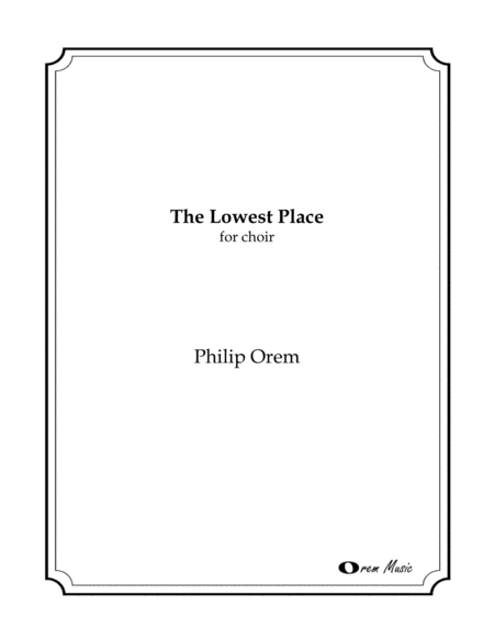 The Lowest Place