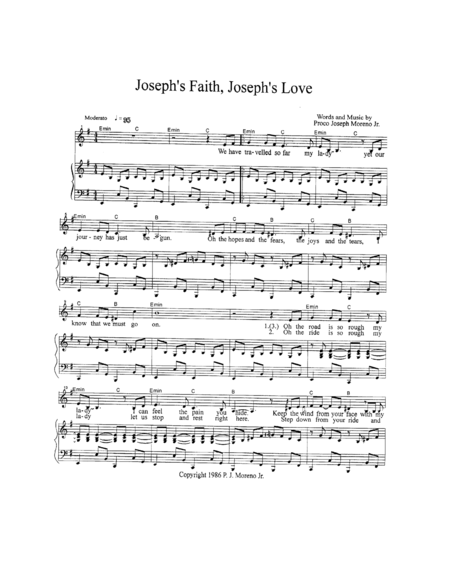 Joseph's Faith, Joseph's Love