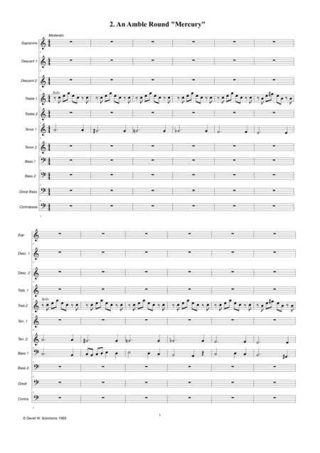 An amble round Mercury for recorder orchestra