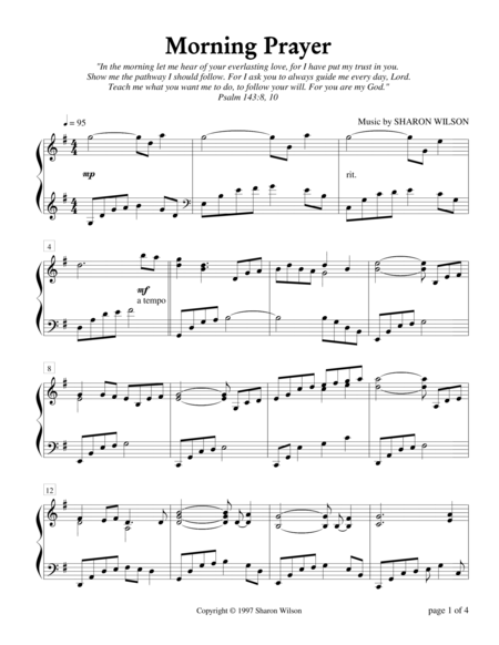 Morning Prayer (Piano Solo)