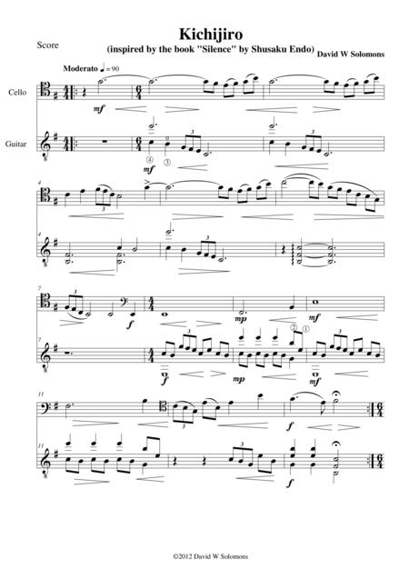 Kichijiro for cello and guitar