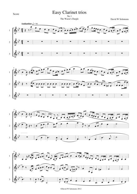 15 easy clarinet trios