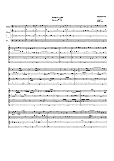 Passacaglia, BuxWV 161, D minor
