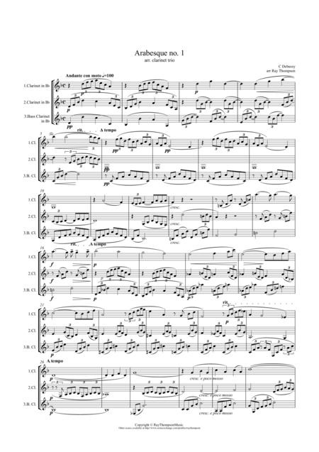 Debussy: Arabesque No.1 - clarinet trio