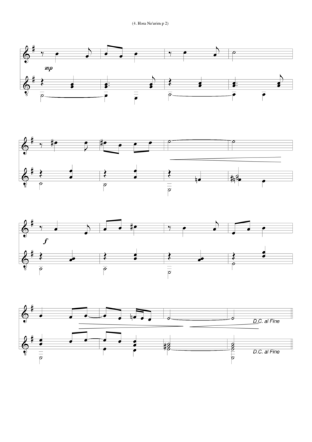 Hora neurim (Dance of Youth) for flute and guitar