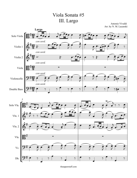 Sonata RV40 Movement III