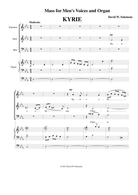 Mass for mixed choir and organ