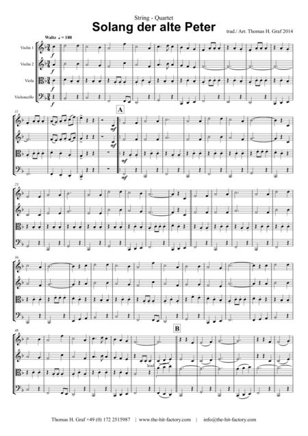Solang der alte Peter – Oktoberfest – Munich City anthem - String Quartet
