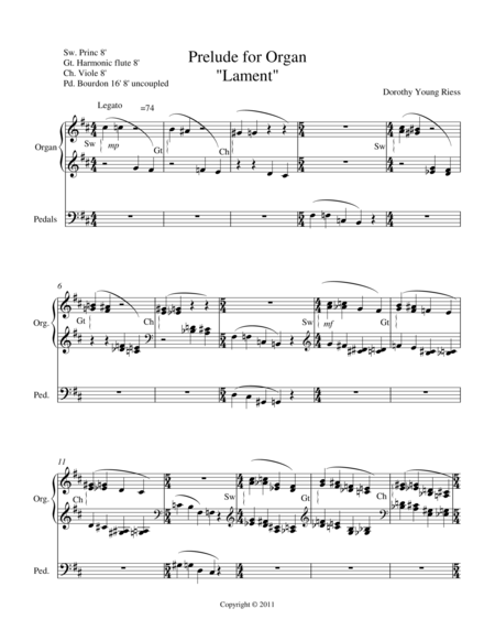 LAMENT Prelude for Organ