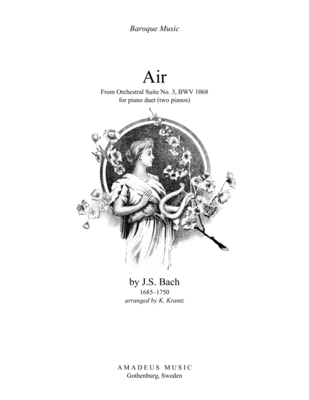 Air (on the G string) from Suite No. 3, BWV 1068 for piano duet