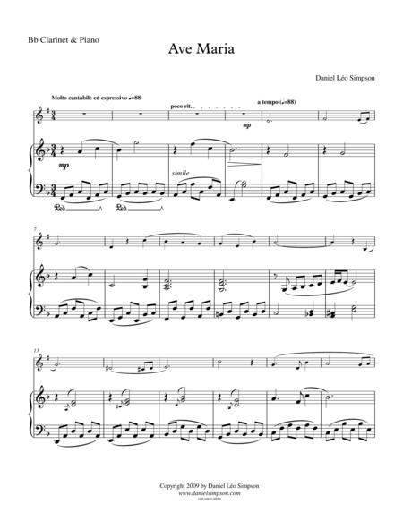Ave Maria for Bb Clarinet & Piano
