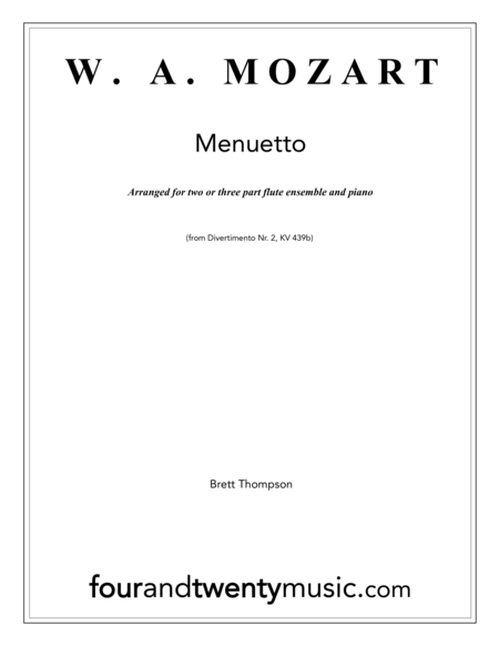 Menuetto, for two or three flutes with optional piano