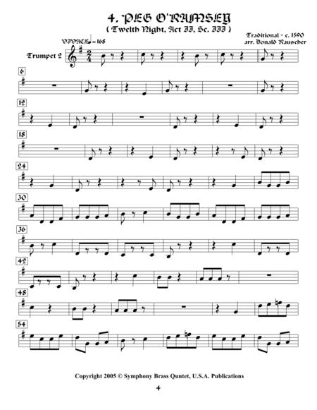 Shakespearean Music for Brass Quintet - 4. Peg o'Ramsey - Twelfth Night (Trumpet 2)