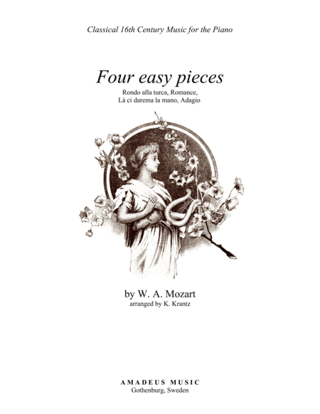 4 short pieces by Mozart for easy piano solo