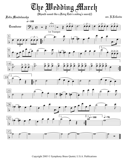 Wedding Collection: Professional Edition - 4. The Wedding March (Trombone)