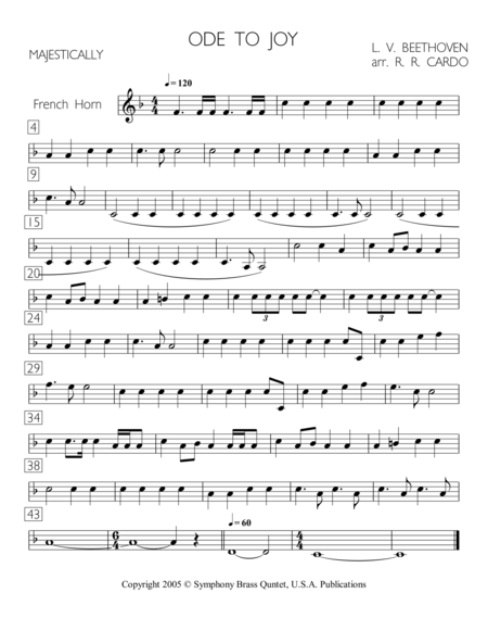 Easter Music - 1. Ode to Joy (French Horn)