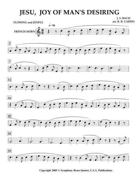 Easter Music - 2. JESU, Joy of Man's Desiring (French Horn) [same arrangement as in collection titled