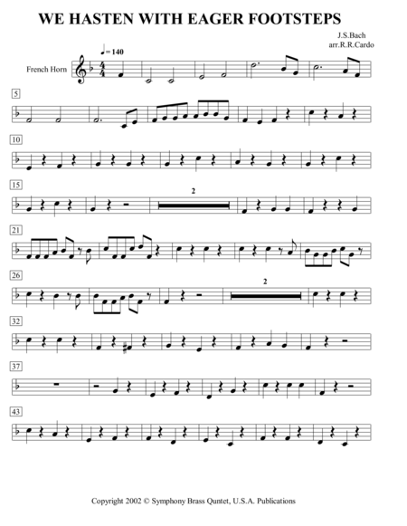 Easter Music - 3. We Hasten with Eager Footsteps (French Horn)