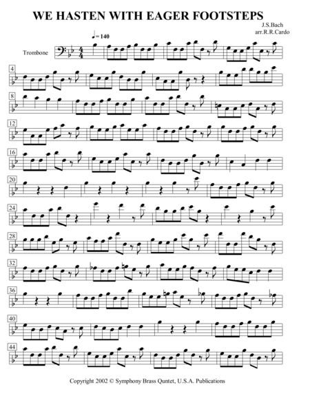 Easter Music - 3. We Hasten with Eager Footsteps (Trombone)