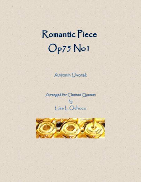 Romantic Piece Op75 No1 for Clarinet Quartet