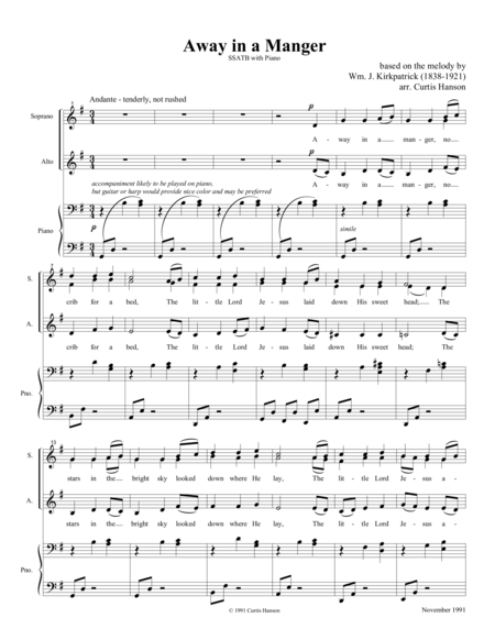 Away in a Manger (SATB)