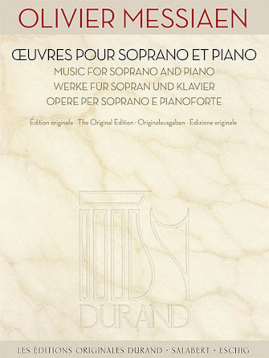 Music for Soprano and Piano [Oeuvres Pour Soprano et Piano]