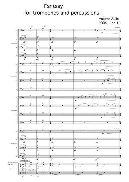 Fantasy for trombones & percussion - score