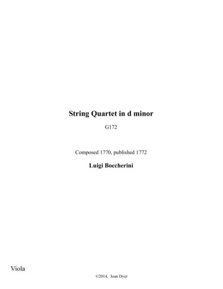 String Quartet in d minor, G. 172, viola