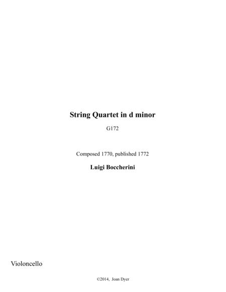 String Quartet in d minor, G. 172, cello