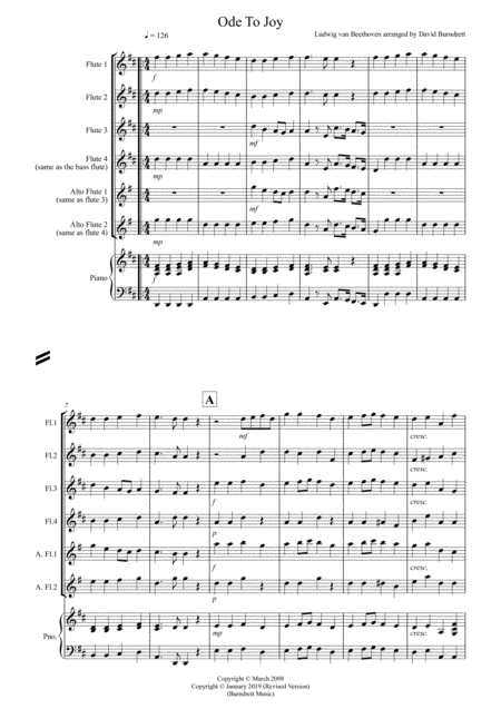 ode to joy music sheet pdf