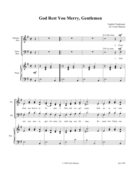 God Rest You Merry, Gentlemen (SATB)