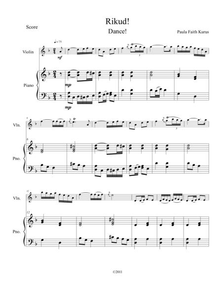 Rikud! (violin & piano score)