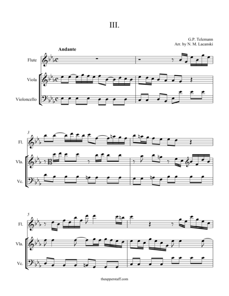 Sonata in C Minor Movement III