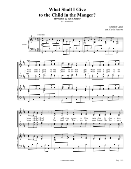 What Shall I Give to the Child in the Manger? (SATB)