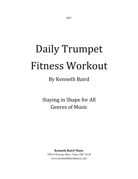 Daily Trumpet Fitness Workout: Staying in Shape for All Genres of Music
