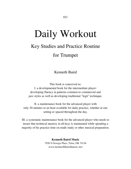 Daily Workout: Key Studies and Practice Routine for Trumpet