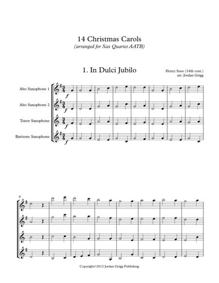 14 Christmas Carols (arranged for Sax Quartet AATB)
