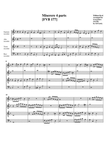 Miserere 4 parts [FVB 177]