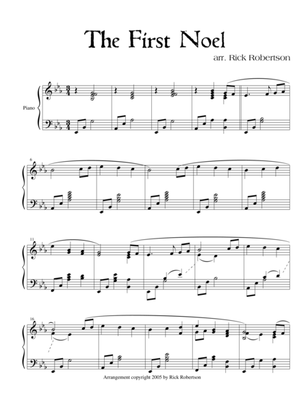 The First Noel  (Arranged by Rick Robertson)