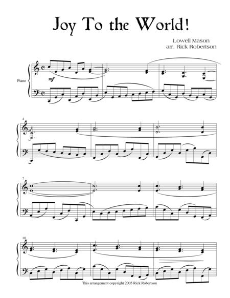 Joy To the World! (arranged by Rick Robertson)