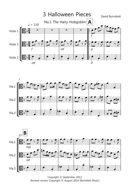 3 Halloween Pieces for Viola Trio