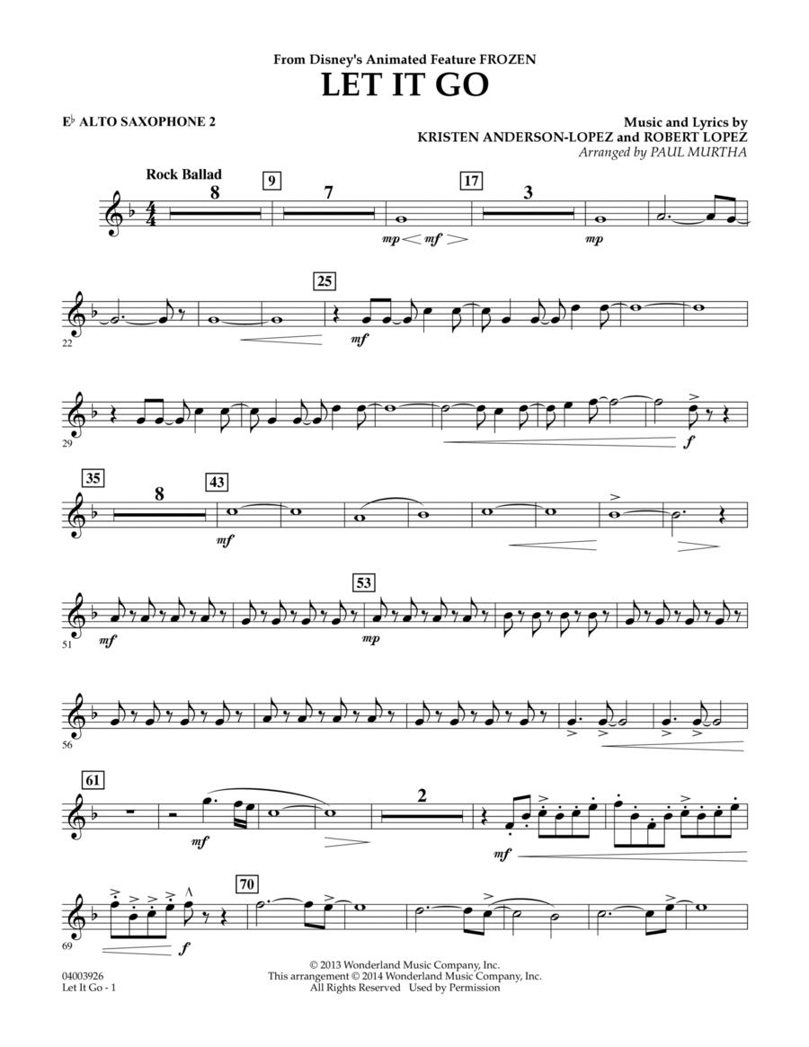 Let It Go - Eb Alto Saxophone 2