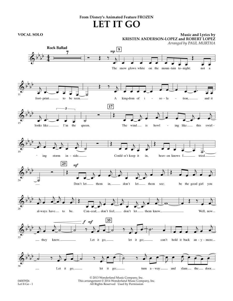 Let It Go - Vocal Solo