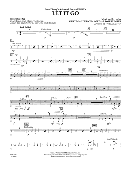 Let It Go - Percussion 2