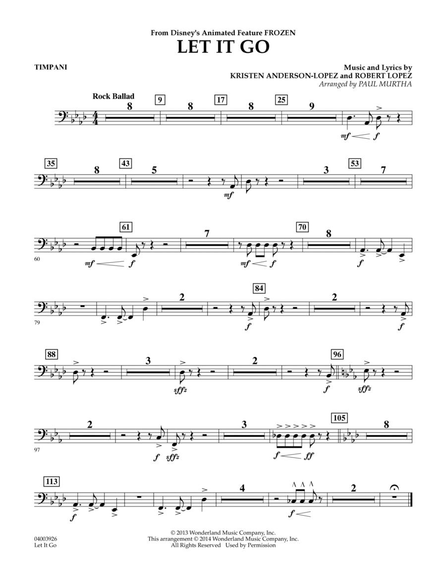 Let It Go - Timpani