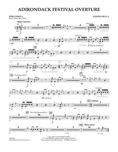 Adirondack Festival Overture - Percussion 1